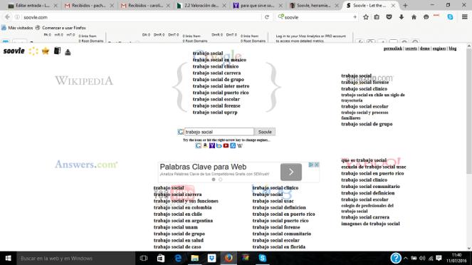 buscar en google trabajo social soovle